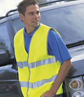 Man wearing high viz jacket